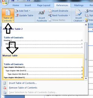 Cara membuat daftar isi menggunakan microsoft word