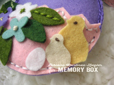 felt Egg detail chicks