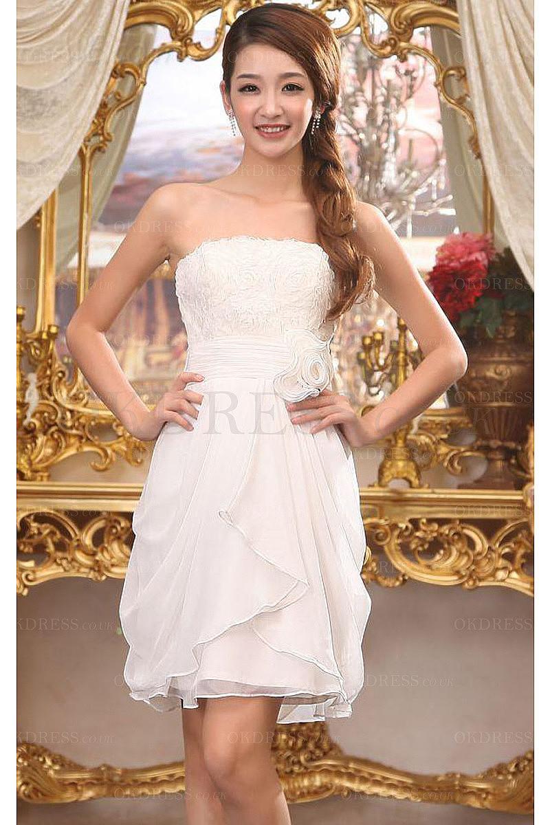 Amazing Vintage Strapless Sleeveless Short Evening Dresses