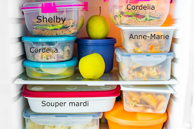 Identifier les collations, lunchs, crudités et cie