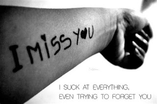 i miss you my love tattoo on the hand with love quote picture