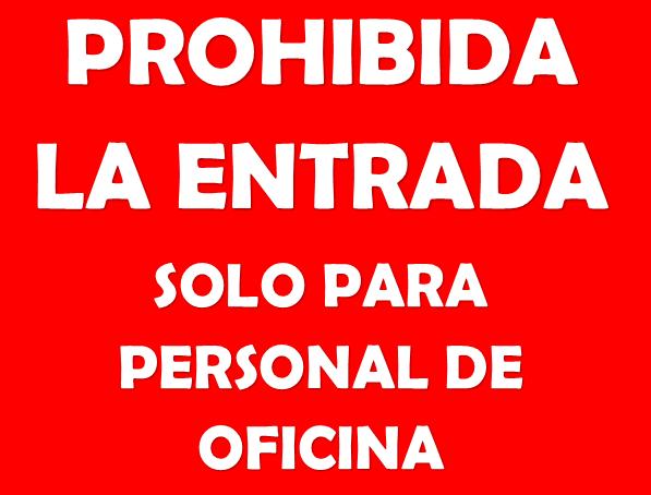 Prohibida la entrada solo personal de oficina for Bankia particulares oficina internet entrar