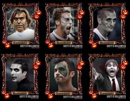 Juventus stars as Halloween monsters