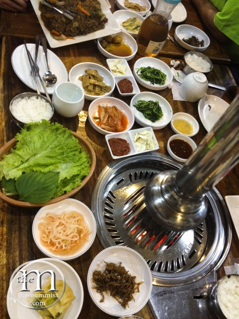 Table full of banchan