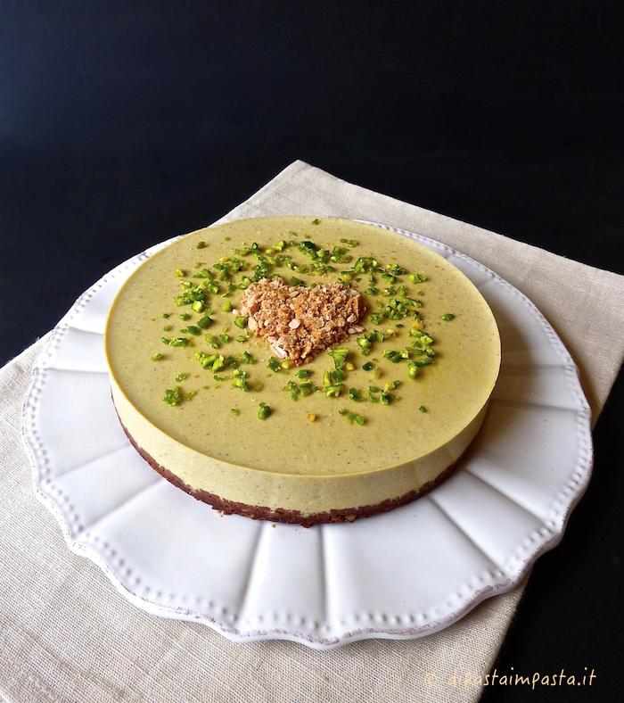 Di pasta impasta: Cheesecake al pistacchio con agar agar