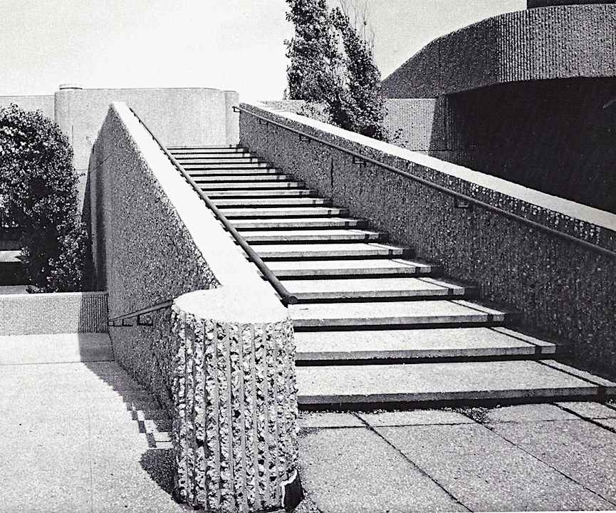 Brutalist architecture, stairs