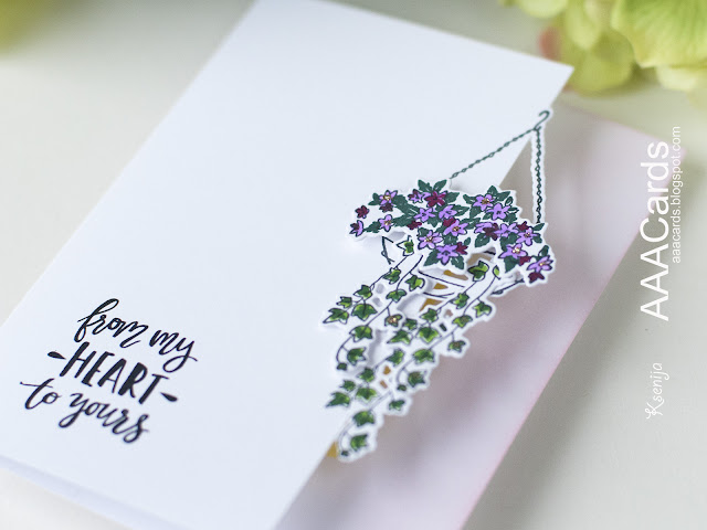 Close Up of a Clean And Simple Card with Die Cutting on The Edge