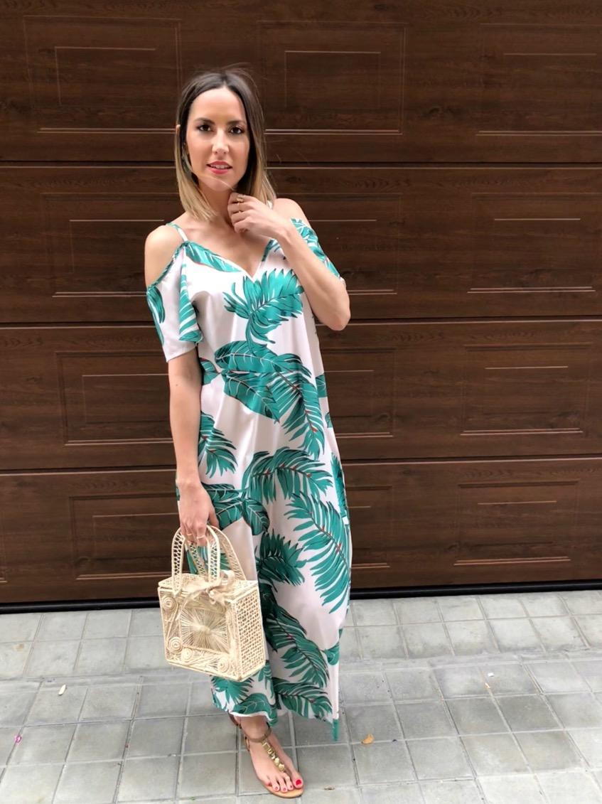 Fitness And Chicness-Leaf Print Dresses La Familia-4