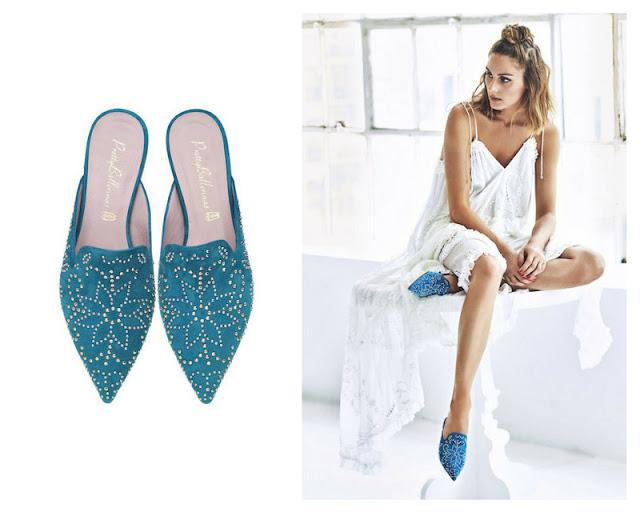 zapatos bailarinas miles azul flores