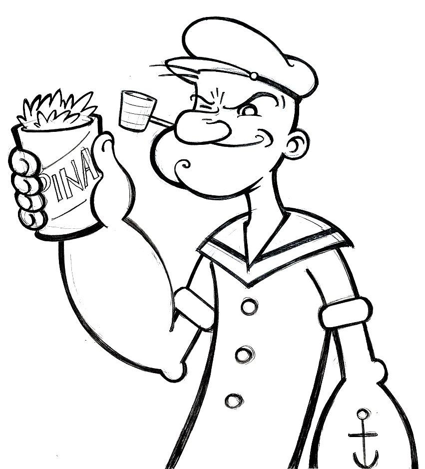 Top Gambar Kartun Popeye Si Pelaut