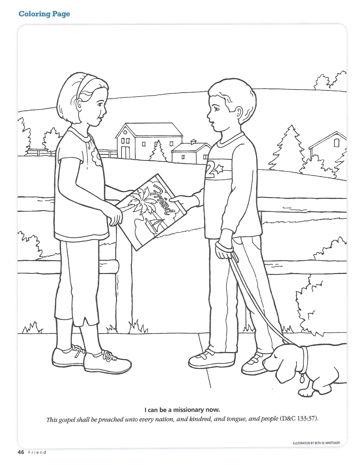 Coloring pages of missionary