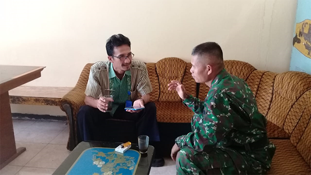 Babinsa Koramil Nusawungu, Anjangsana ke Kadus Banjarwaru