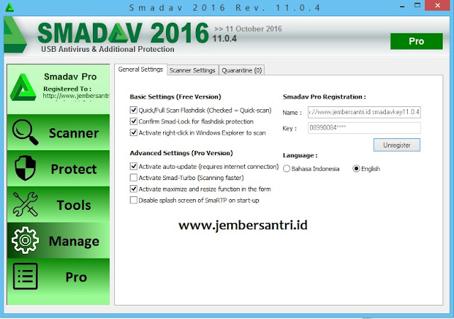 Smadav Pro Rev 11.0.4 Full Free Serial Number Key Terbaru September 2016