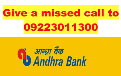 Andhra Bank Missed Call Account Balance check