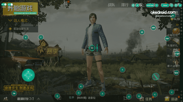 Contoh Settingan Keyboard Layout untuk main game pubg mobile gratis versi china di memu emulator