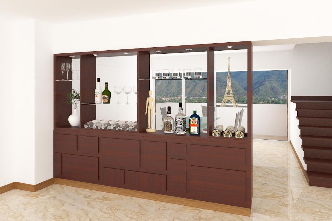 Il veneziano muebles tv y multiuso bares bibliotecas for Mueble separador de ambientes