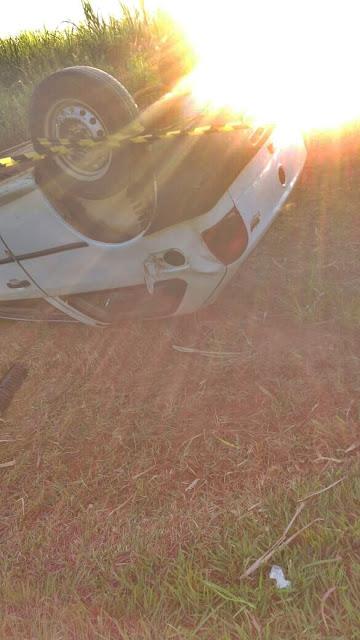 Homem morre após capotar o carro entre Cajobi e Embaúba