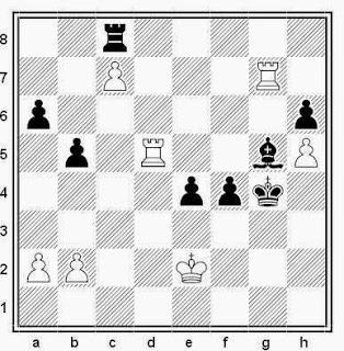 Posición de la partida de ajedrez Roman - Tradescu (Groninga, 1982)