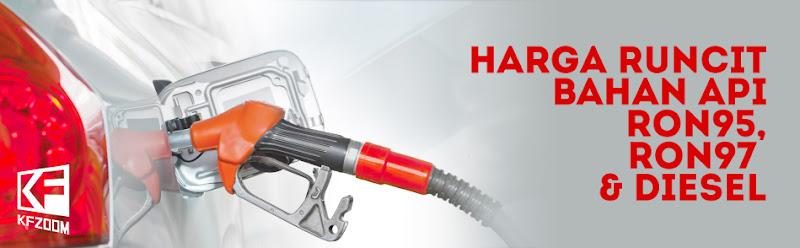 Harga Minyak Terkini Setiap Minggu Petrol Ron95 Ron97 Diesel 2020 Kfzoom