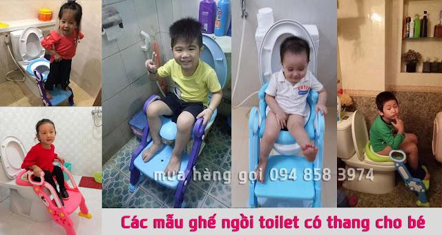 Các mẫu ghế ngồi toilet có thang cho trẻ em được hỏi mua nhiều nhất