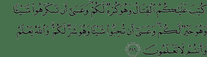 Surat Al-Baqarah Ayat 216