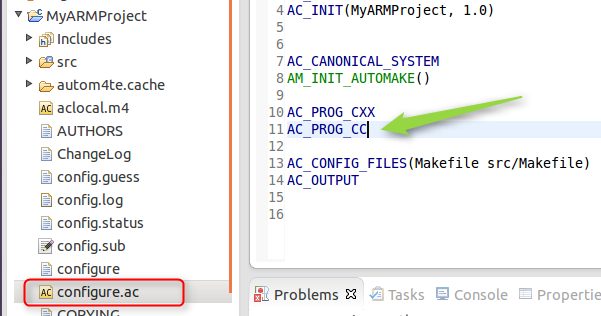 how to create new project in eclipse c++