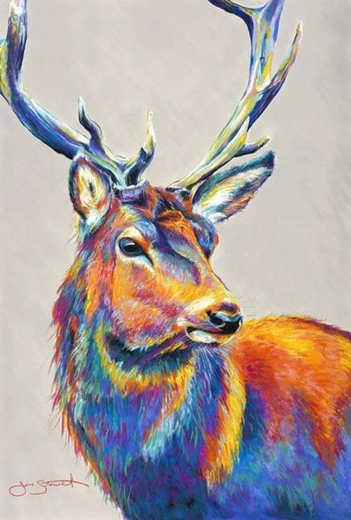 14-Stag-Large-Scale-Soft-Pastel-Drawings-Of-Wild-Ainimals-www-designstack-co