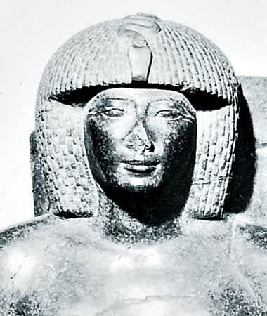 Escultura de granito gris de Thutmose IV, Egipto, siglo XV a.