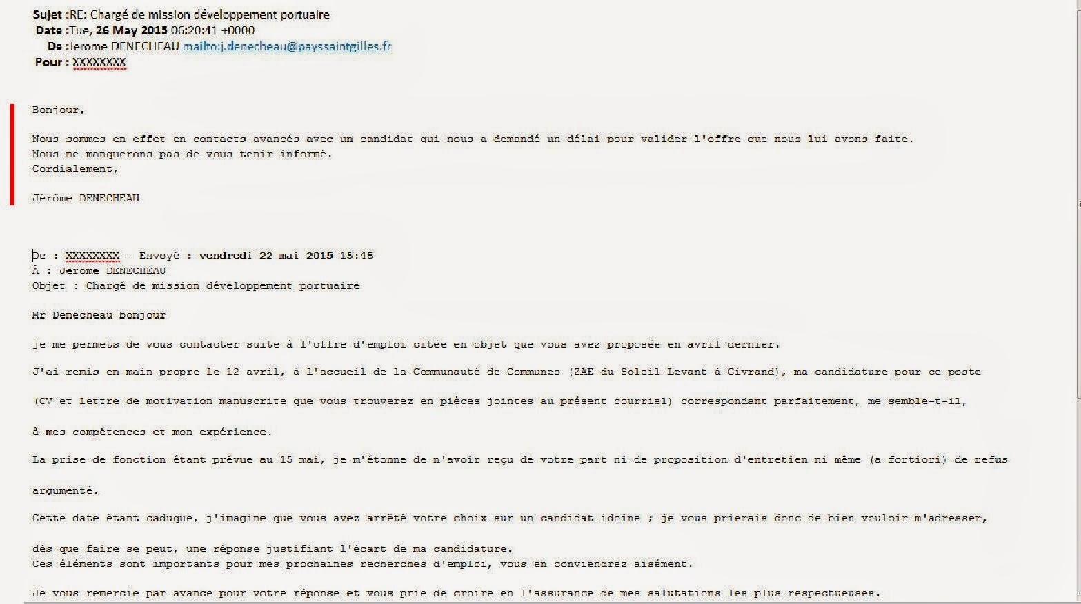 Ppt Mail De Relance Candidature Sans Reponse