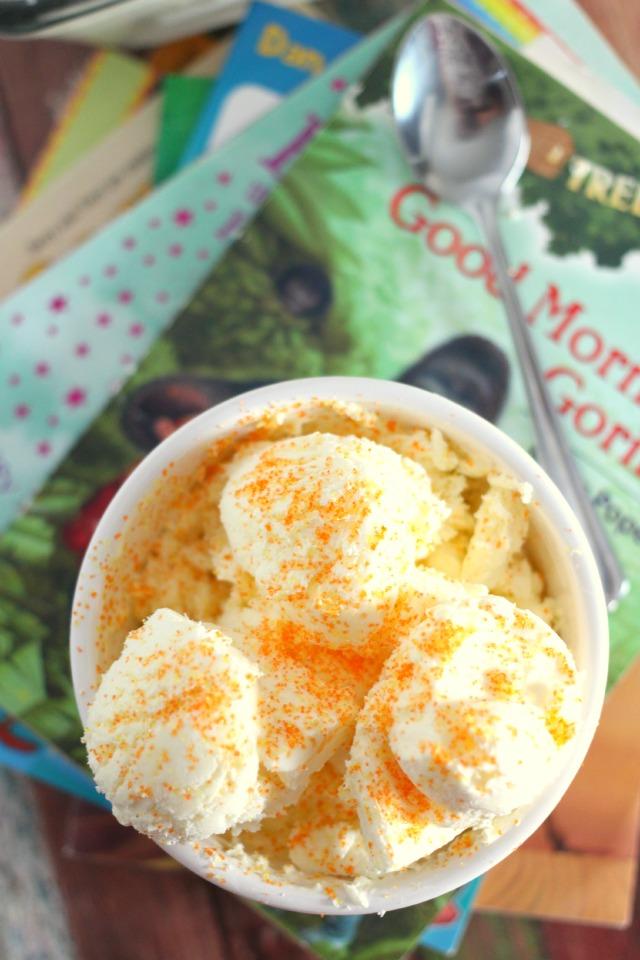 Mama Loves Food!: No Churn Creamsicle Ice Cream Recipe