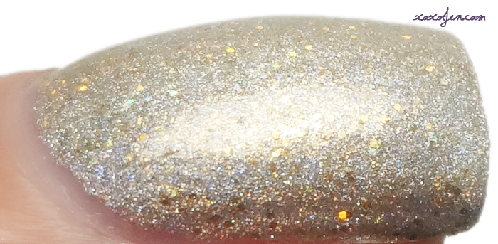 xoxoJen's swatch of Black Dahlia Gold Rush