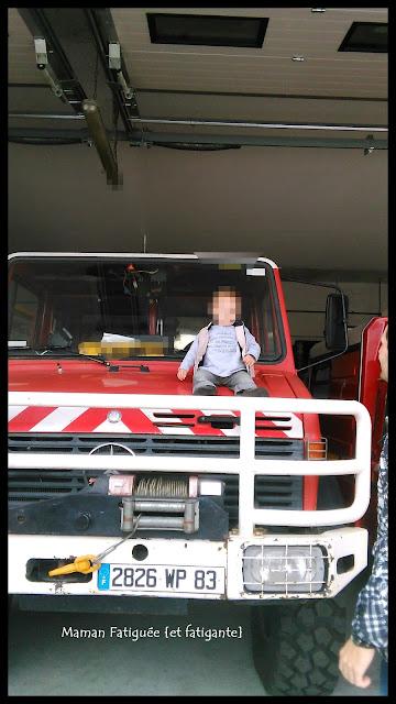 visite chez les pompiers enfants