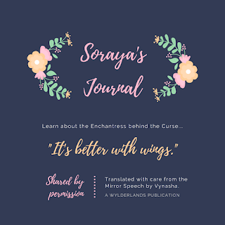 "Soraya's journal graphic: ""It's better with wings."""