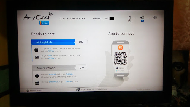 anycast dongle firmware upgrade new screen