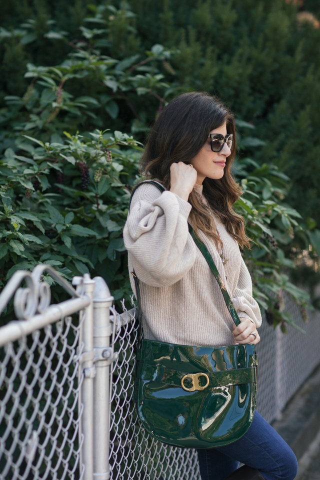 tory burch green bag