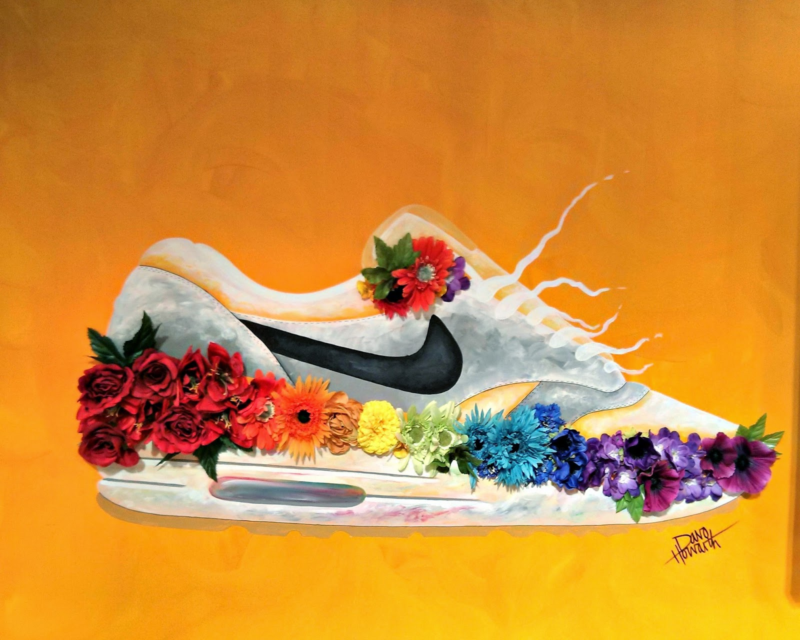 Davo Howarth sneaker painting at Manchester