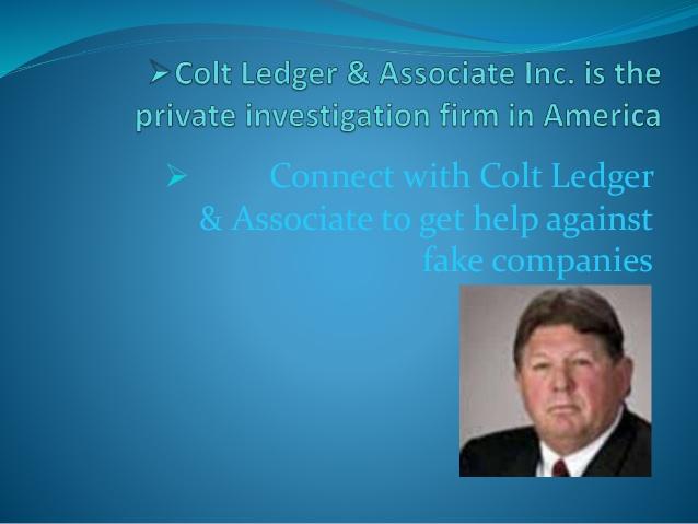 Colt Ledger Investigation Firm in USA