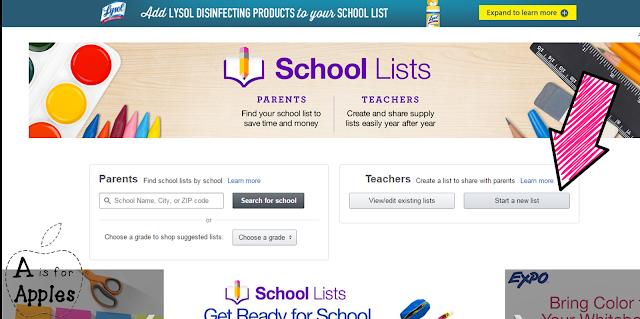 Amazon school supply list - Step 2