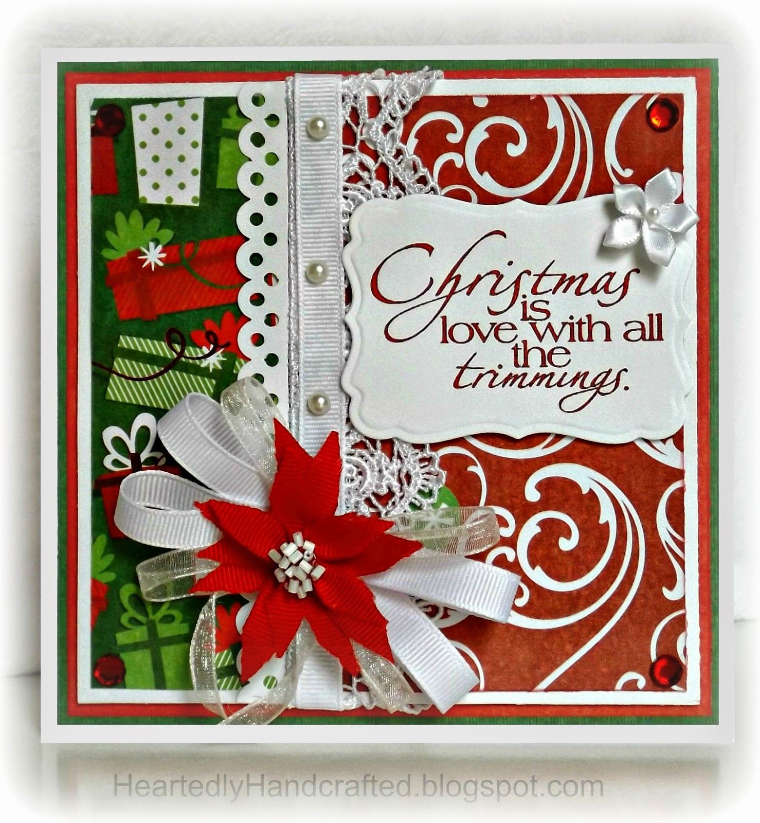 Christmas Holiday Card: Poinsettia Christmas Cheer
