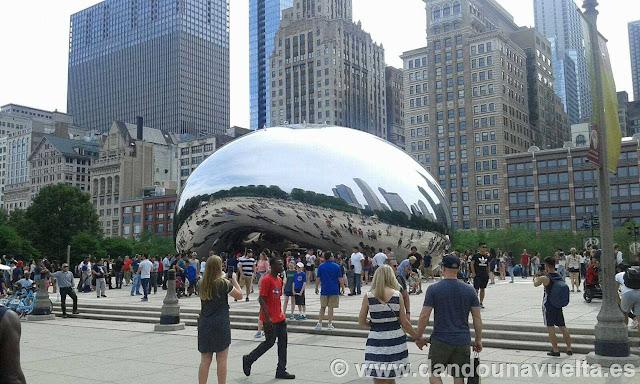 The Bean en el Millennium Park. Chicago