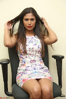 Nishi Ganda stunning cute in Flower Print short dress at Tick Tack Movie Press Meet March 2017 146.JPG