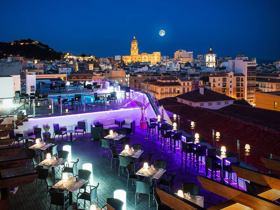 Terraces rooftop bars in malaga for Rooftop bar and terrace