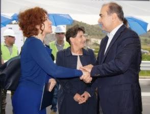 Haxhinasto- Vlahutin inaugurate the new bypass in Rrogozhinë