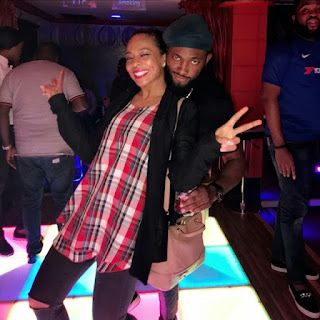 Photos of Tboss and Uti nwachukwu as they both Hangout