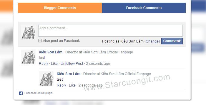 Cách Sừ Dụng Song Song Comment Facebook Và Comment Blogger