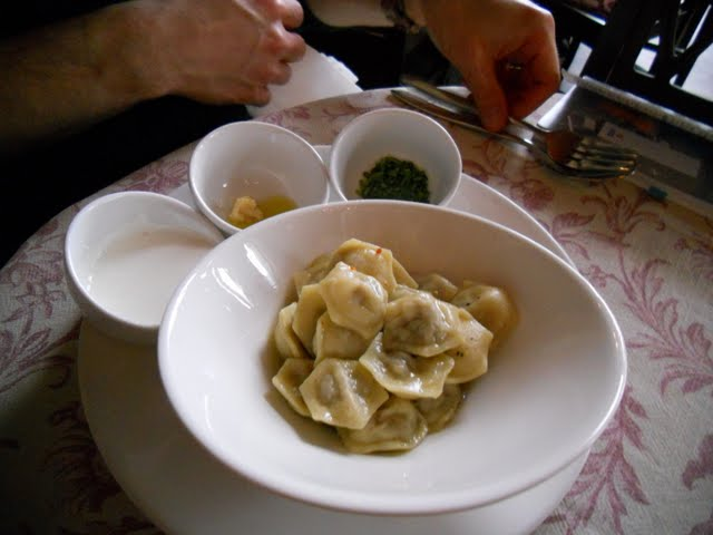 Savory Dumplings at Reval Cafe in Tallinn, Estonia