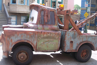 Tow Mater on the Streets of America