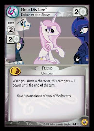 My Little Pony Fleur Dis Lee, Enjoying the Show Friends Forever CCG Card