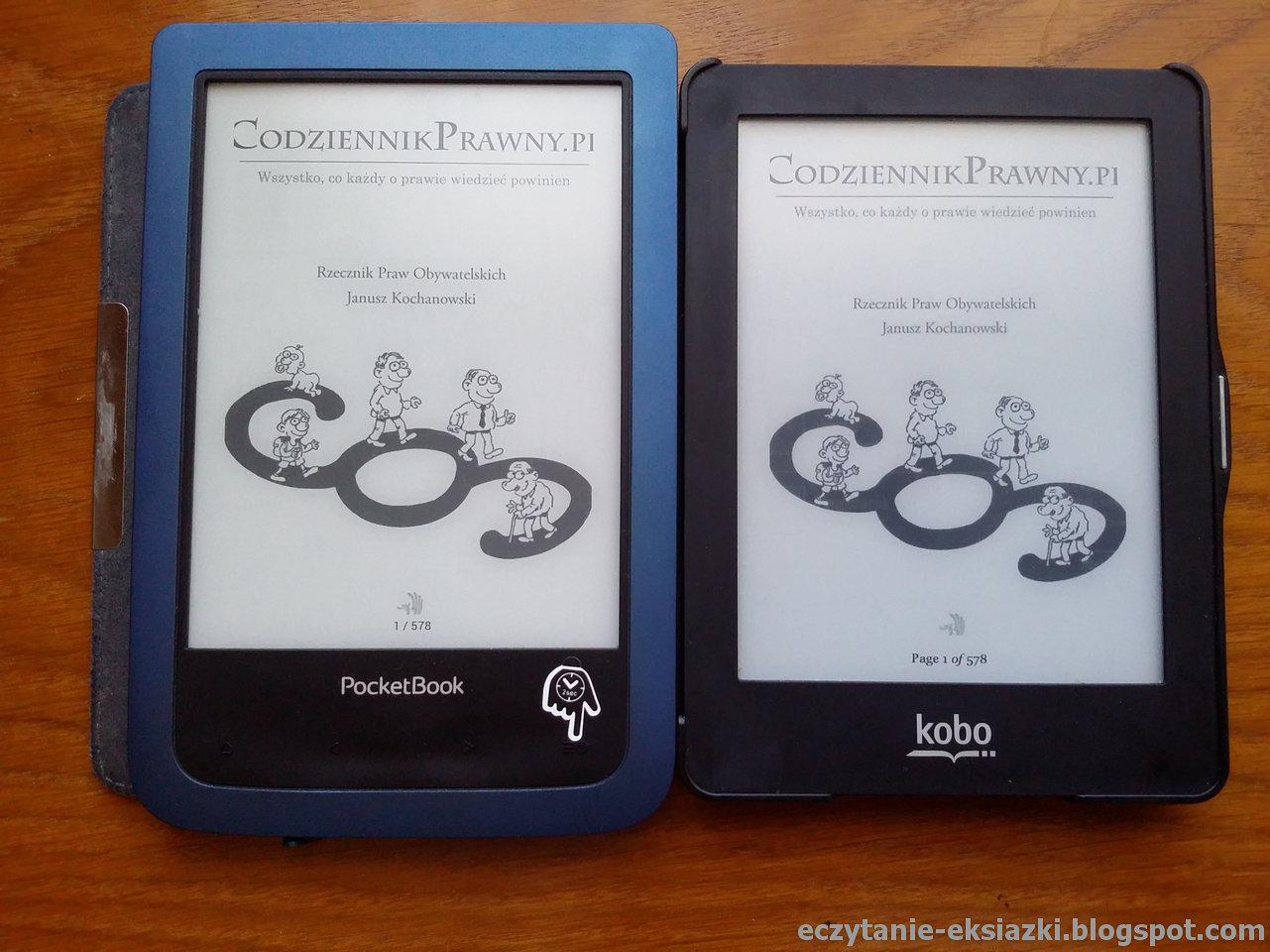 PocketBook Aqua 2 w porównaniu z Kobo Glo