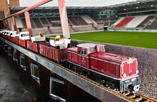 millerntor stadion amburgo st pauli trenino